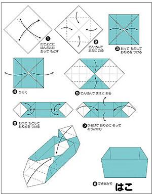 資料提供:「おりがみくらぶ」 : 豆入れ 折り紙 : 折り紙
