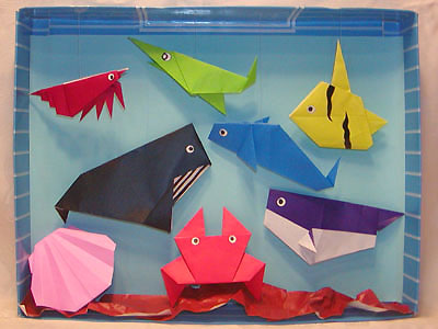 ハート 折り紙 折り紙海の生き物折り方 : matome.naver.jp