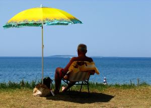Old Man Sitting On Beach Chair : 自由研究アイディア : 自由研究