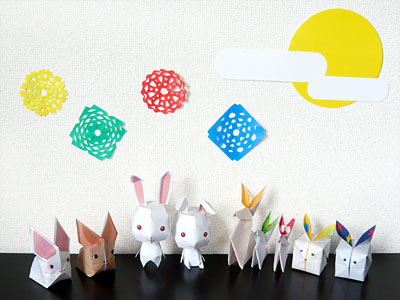 折り紙と切り絵で簡単お月見 ... : 短冊 折り紙 : 折り紙
