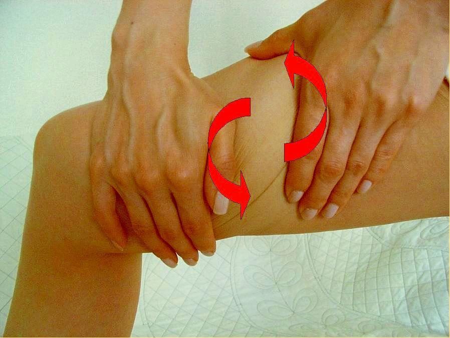 大腿后侧中间部位有较粗的淋巴集中从这里经过