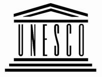 パルテノン神殿にUNESCOの文字を組み込んだユネスコの標章
