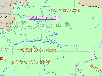 ウイグル自治区の地図 新疆ウイグル自治区の地図。6月5日の暴動は、ウルムチで起こった。 広東..