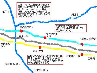 市川の地図