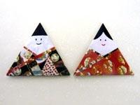 折り紙で手作り雛人形を作ろう ...