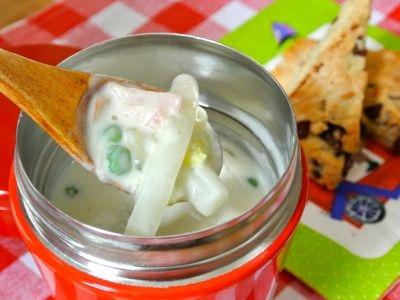 ハムと白菜のジンジャークリームスープ