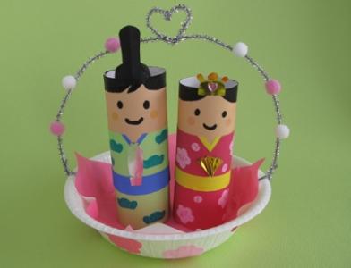 ペーパー芯と紙皿でお雛様を ... : 雛人形 紙 : すべての講義