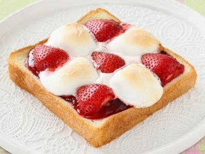 ねとめし マシュマロトースト イチゴ 食パン