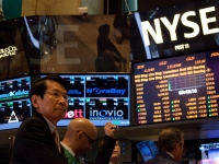 ニューヨーク証券取引所にて。海外に来ると円安によって、いかに円の価値が目減りしているかわかる