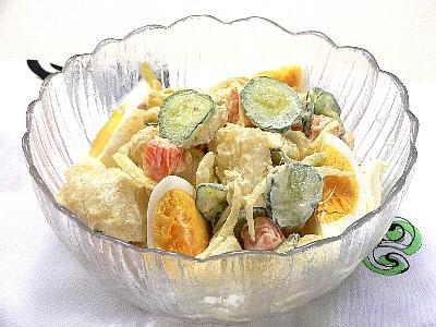 お釜で作る、ほくほくマカロニポテトサラダ カテゴリー:サラダ、ポテトサラダ マカロニとポテトと人