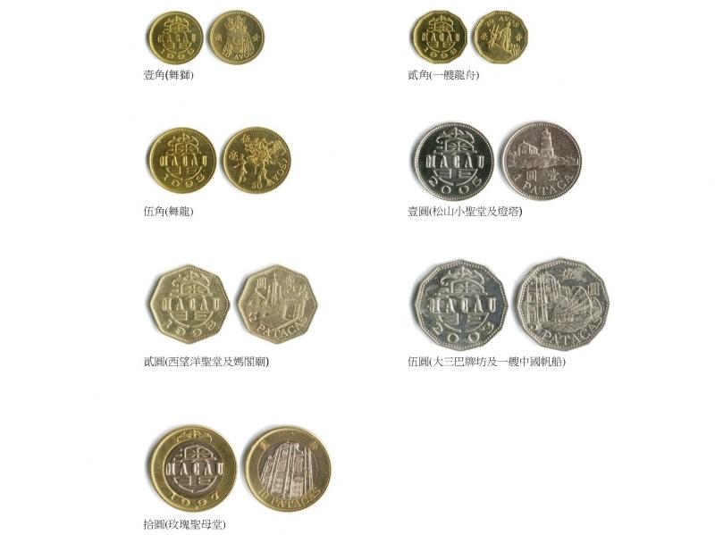 すべての講義 お金の両替 : マカオパタカ硬貨一覧 (c) AMCM ...