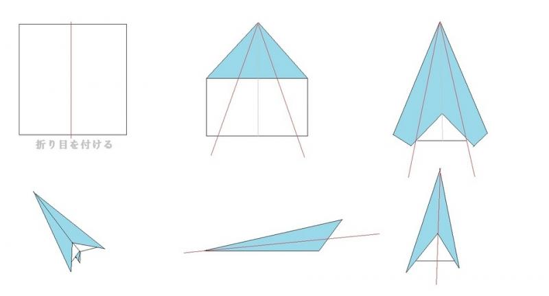 紙 折り紙 紙飛行機折り方 簡単 : hagifood.com