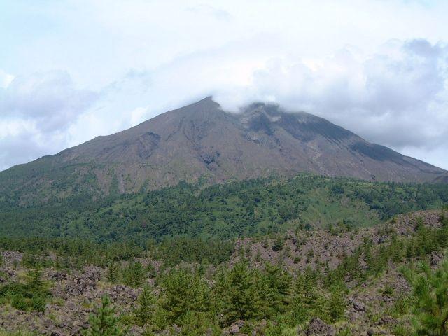 有村溶岩展望所から眺める桜島