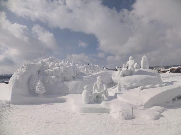2013 十日町雪まつりの雪像