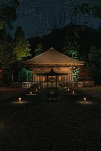 露地行灯風器具が阿弥陀堂参詣への誘導効果を高める