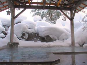 雪見露天風呂の記事より。景色は温泉の魅力の一つだが。