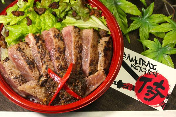 サーロインステーキ丼(HOKUBEE Halal Meat)