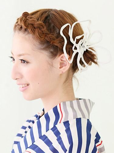 袴 パーティードレス 髪型
