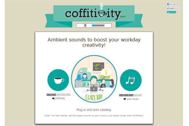 情報を整理するために集中力を高める:coffitivity