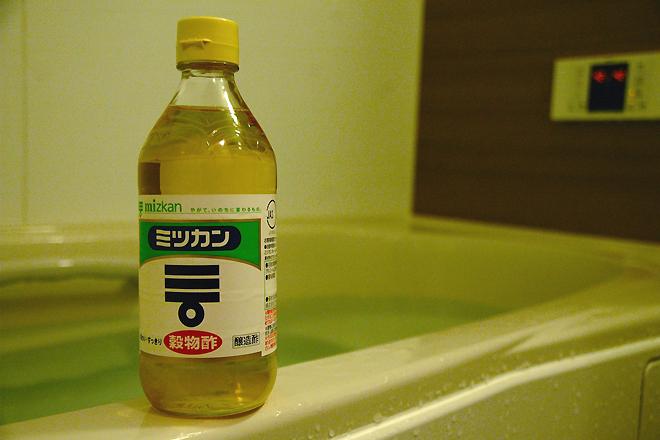 「お酢」入りのお風呂に入る