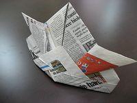 """折り方 鯉のぼりの折り方 : 折り紙】""""新聞紙""""の折り方 ..."""